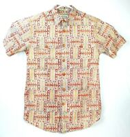 Orvis Mens Short Sleeve Ornate Button Up Shirt Size Small S