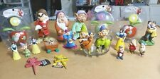 DISNEY LOT OF 20 SNOW WHITE & DWARFS SOLAR-POT SITTERS AND PLASTIC FIGURINES