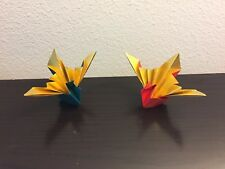 Twin Origami Paper Cranes - lucky charm