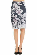 Paul Smith gonna seta stampa iris, iris print silk skirt SIZE 40
