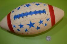 "1976 Bicentennial All American Plastic Football Red White Blue 11"" Good Shape"