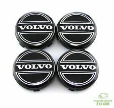 Set 4 Tappi Coprimozzo per VOLVO 64mm C30 C70 S40 S60 V50 V60 V70 Cerchi in Lega