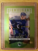 2018-19 UD SYNERGY SIGNIFICANT SELECTIONS ELIAS PETTERSSON GREEN #/199 Canucks