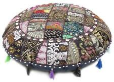 32'' Round Decorative Cushion Cover Handmade Ethnic Patchwork Floor Pillow Cover
