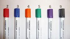 STAEDTLER 351 WP6 Lumocolor Whiteboard Markers Pens - 6pk. BULLET or CHISEL TIP
