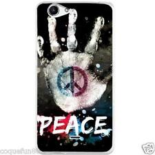 Coque Wiko Pulp 4 G + Protection Verre Trempé 9 H - Motif Peace