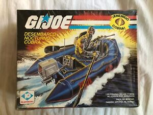 Vintage G.I.JOE Cobra Night Landing 1985 NISB ARGENTINA PLASTIRAMA Dented Box