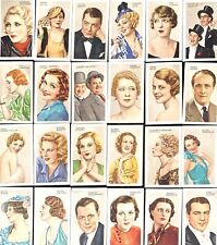 More details for stars of stage & screen 48 cigarette cards - full set pre-owned free uk delivery