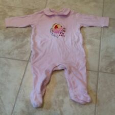 Disney Winnie the Pooh Babygrow 6-9 months Pink Jersey Sleepsuit Baby Girl's