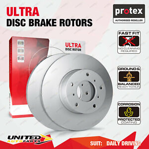 2 Front Protex Vented Disc Brake Rotors for Proton Satria Neo BS 1.6L 07 - on