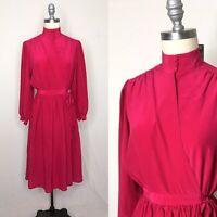 Vintage 80s PS2 100% Silk Wrap Dress Size Small/Medium