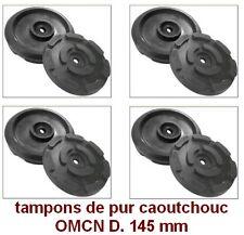 4 X tampons de pur caoutchouc D. 145 mm. pour Pont elevateur OMCN-made in Italie