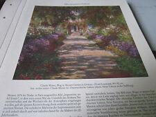 Viena archivado 8 museo tesoros 4076 Claude Monet camino en montes jardín en giverny