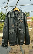 RARE VINTAGE COOGI LEATHER JACKET 3X Commerative Edition Awesome Details BLACK