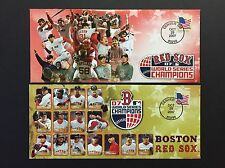 BOSTON RED SOX 2007 WORLD SERIES CHAMPIONS BASEBALL EVENT COVER LOT OF 2