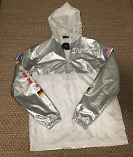NEW Hyper Space NASA International Flag Jacket Pullover Windbreaker Reflective M
