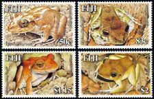 Fiji 2003, Reptiles and Amphibians Frogs of Fiji - 4 v. MNH