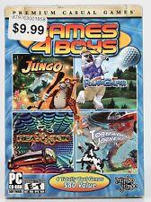 NEW - Games 4 Boys PC CD-ROM Premium Casual Games by Mumbo Jumbo (sealed)