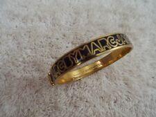 MARC by MARC JACOBS Goldtone Black Hinged Bangle Bracelet (A37)