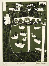 Julian Trevelyan Richmond London Parks Suite 1966 Signed Etching