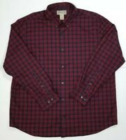 Duluth Trading Long Sleeve Shirt XL Mens Button Front Red Blue Plaid EUC