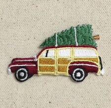 Woodie/Woody - Sedan/Christmas Tree - Iron on Applique/Embroidered Patch