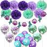 Mermaid Balloon Birthday Decor Set Decorative Kit Birthday Party Supplies