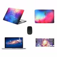 """PINK Galaxy Case for Macbook Pro 13"""" A1278 + Keyboard Cover + LCD + Bag + Mouse"""