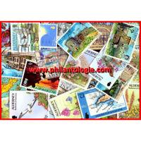 Alderney timbres de collection tous différents.