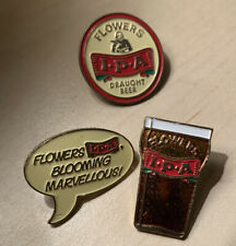 Flowers IPA Draught Beer Pin Badges Set Of 3 Brewing