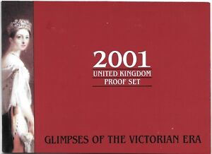2001 Great Britain 10 Coin 8 Page C.O.A. Document Set