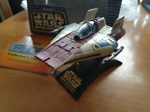 Star Wars Micro Machines Action Fleet A-Wing Fighter Box two figures Galoob 1966