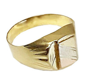 14K Solid Yellow/Pink Gold  Men's  Ring