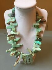 NWOT Sea Foam Multi Color Natural Stone Chrysoprase Fringe Statement Necklace