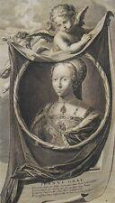 Gravure XVIIème - Portrait de Jeanne Grey - Henri VIII - Vermeulen