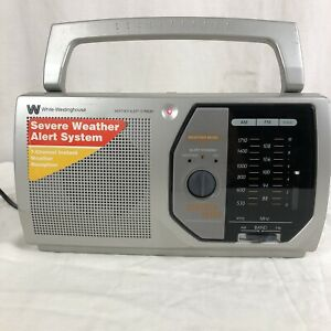 WHITE-WESTINGHOUSE WPR12020 FM/AM SEVERE WEATHER ALERT SYSTEM