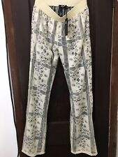 Roberto Cavalli  Ladies Lined Lace Pants Size 40 NWTAGS $ 450.00 Ret Tan & Black