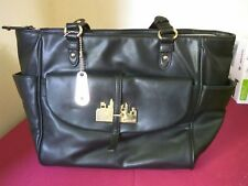 DKNY Black Leather Handbag with gold fittings genuine