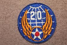 Original WW2 U.S. Army Air Forces 20th Air Force Uniform Patch, Very Nice