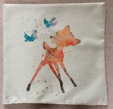 Disney Bambi Abstract Cushion Cover BN. 45x45cm. Xmas, Nursery