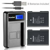 Kastar 2 Battery + LCD USB Charger for Nikon EN-EL14 MH-24 & Nikon D3200 DSLR