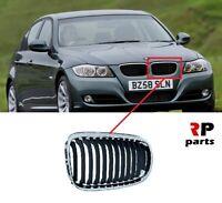 Pour BMW 3 E90/91 09-12 LCI Avant Pare-Choc Chrome/Noir Rein Grille Gauche N /
