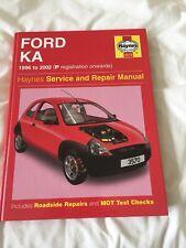 Ford Ka Haynes Manual Ford Ka 1996 to 2002 P registration onwards 1299cc
