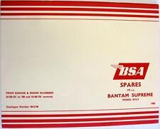 BSA Bantam Sports D14/4S 175cc original moto liste des pièces de rechange 1968 00-5143