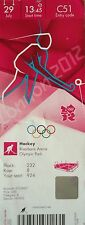 Ticket Olympia 29.7.2012 Women 's hockey china-corea del sur c51