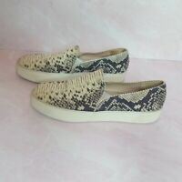 Stuart Weitzman Women's Shoes Snakeskin Slip On Lace Free Sneakers, Size 8.5