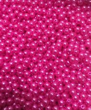 Pearl Acrylic Bead 6mm Magenta (Bright Pink) Coloured X 500
