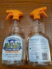 2-Pack, Four Monks Cleaning Vinegar, Citrus Mint Scent, Non Toxic, 24fl oz each