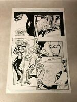 BLACK WIDOW WHITE TIGER original art MARVEL Heroes for Hire Signed BART SEARS