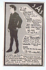 SAS ZIP JACKET ADVERT  press clipping 1981 12x9cm (11/7/1981)
